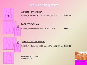 BODY AND WAX PAQUETES